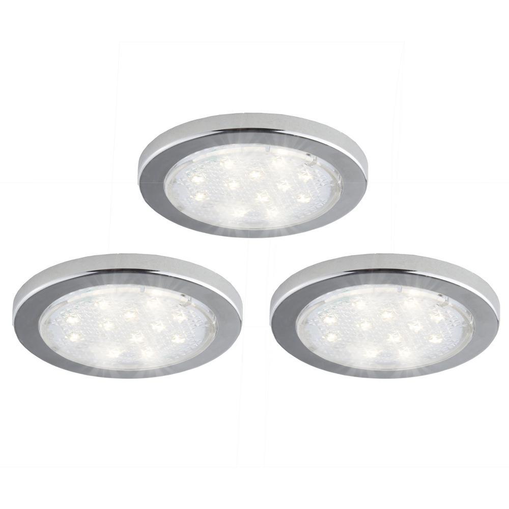 3-Pack Under-Cabinet LED Puck Light