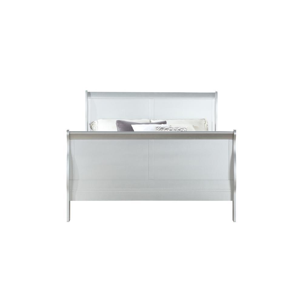 Acme Furniture Louis Philippe III Platinum Eastern King Bed 26697EK