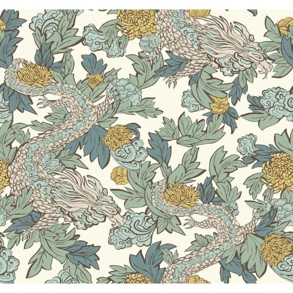 York Wallcoverings DwellStudio Ming Dragon Wallpaper DR6301