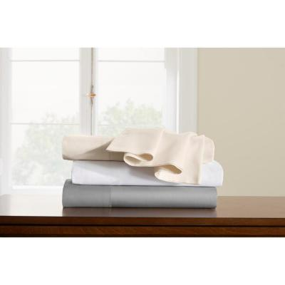500 Thread Count Egyptian Cotton Solid Sateen Pillow Case (Set of 2)