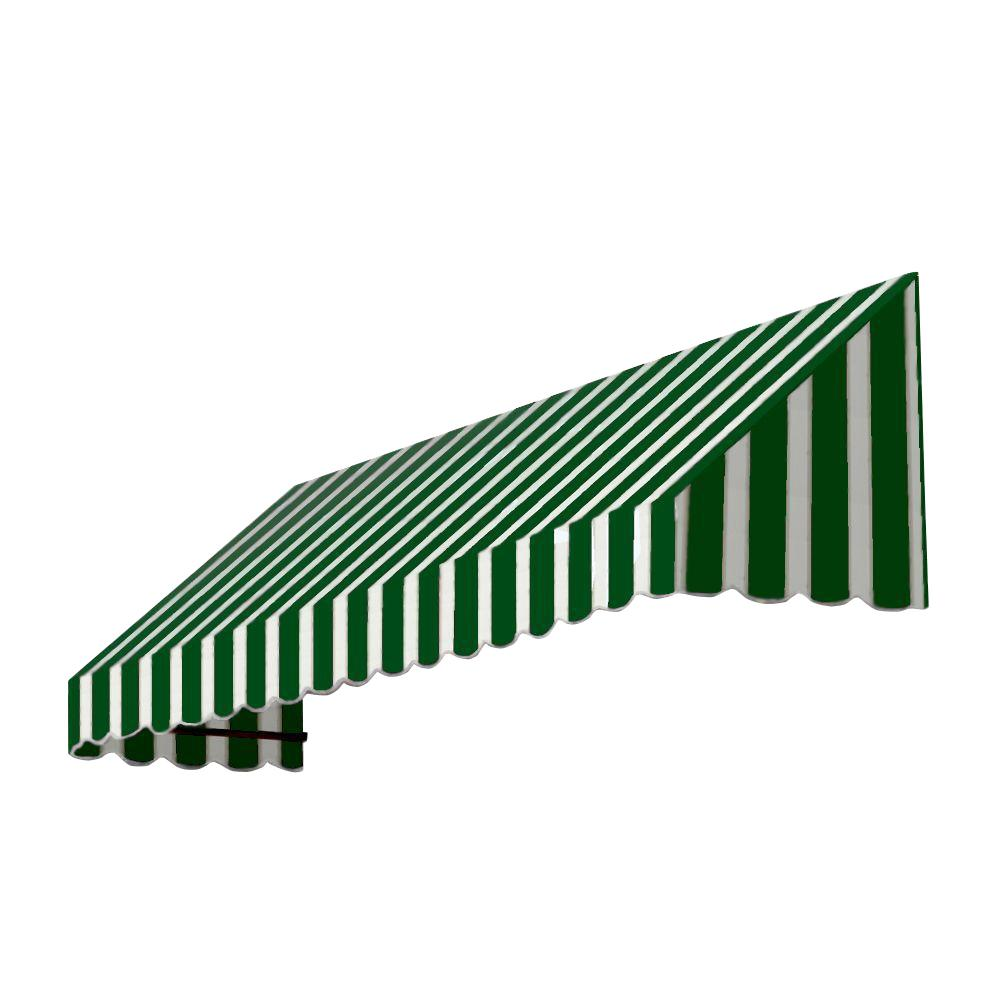 AWNTECH 8 ft. San Francisco Window/Entry Awning (56 in. H x 36 in. D) in Forest/White Stripe