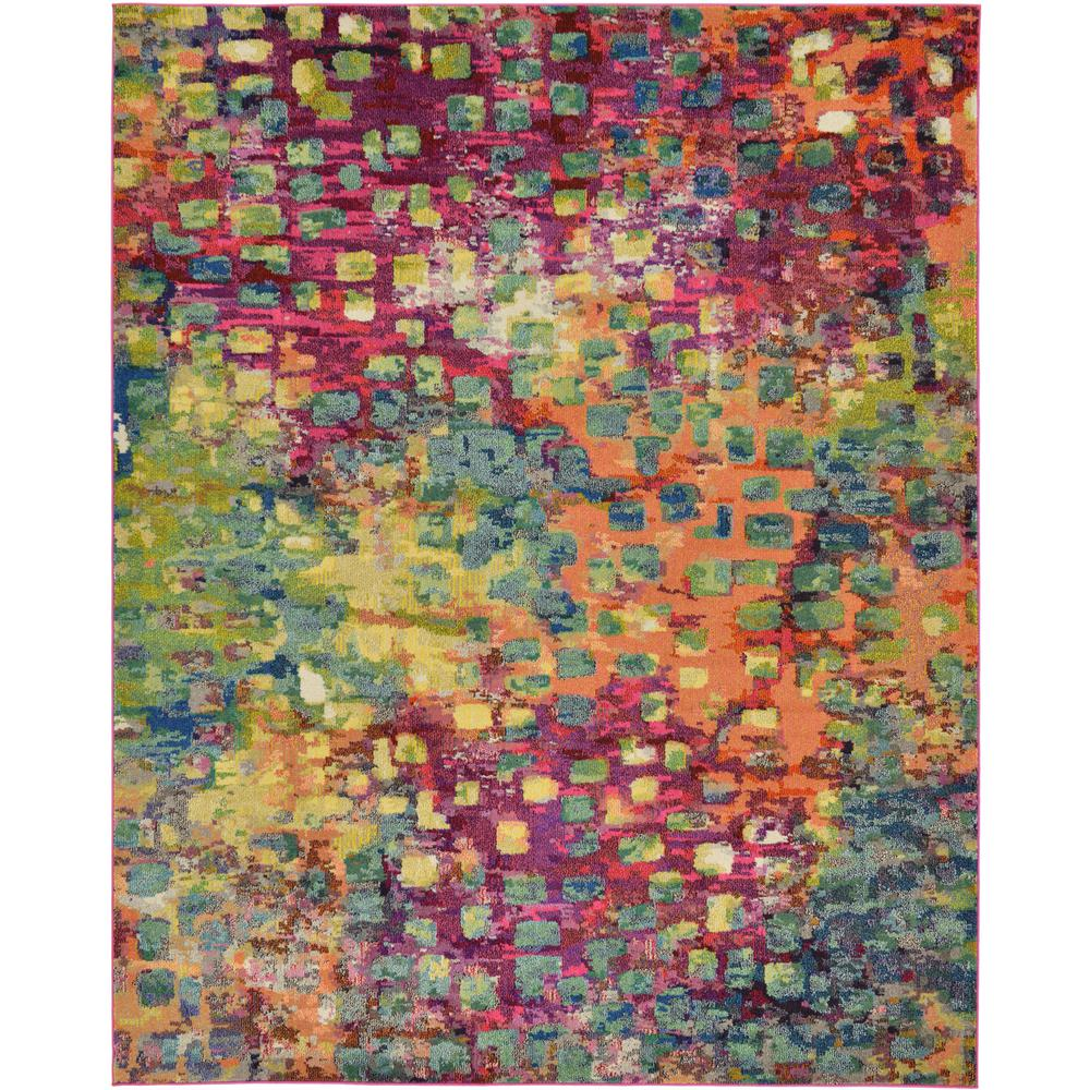 Uniquely Modern Rugs: Unique Loom Abstract Multicolor Barcelona 8 Ft. X 10 Ft