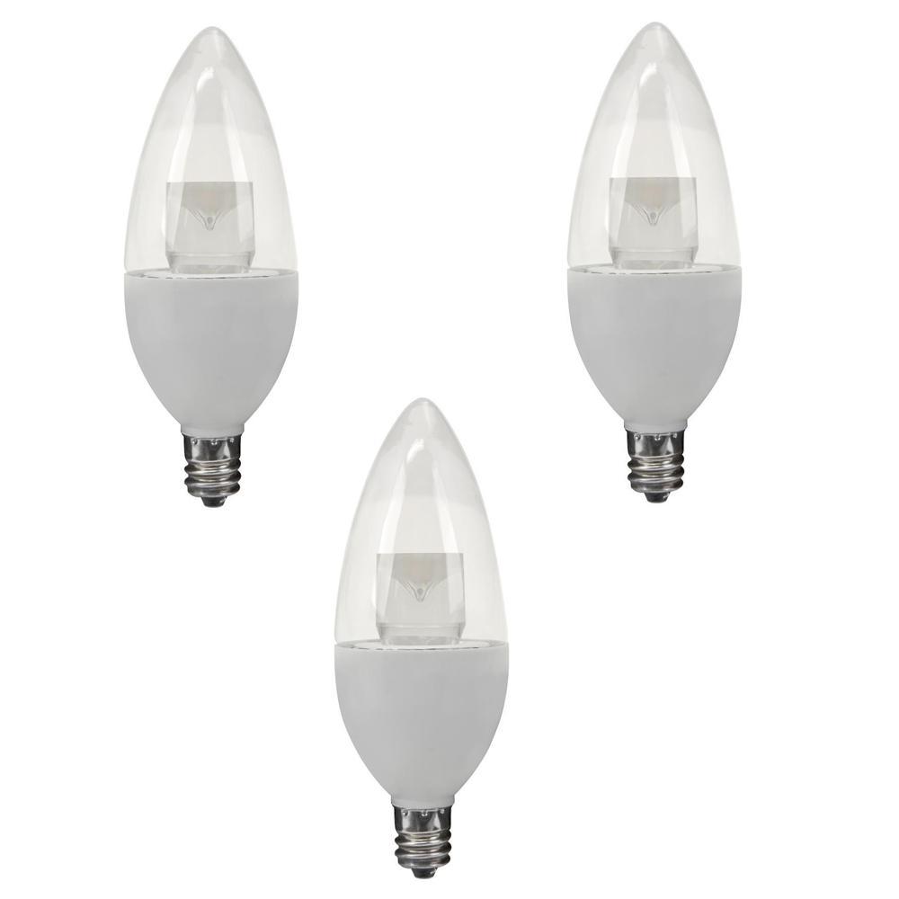 TCP 40W Equivalent Soft White B10 Candelabra Dimmable LED Light Bulb ...