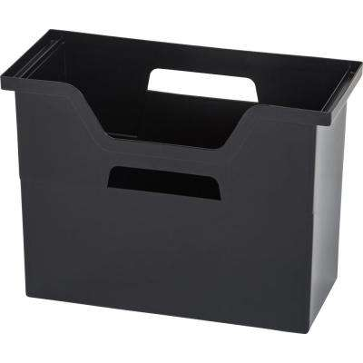 Medium Desktop File Box in Black (6 per Pack)