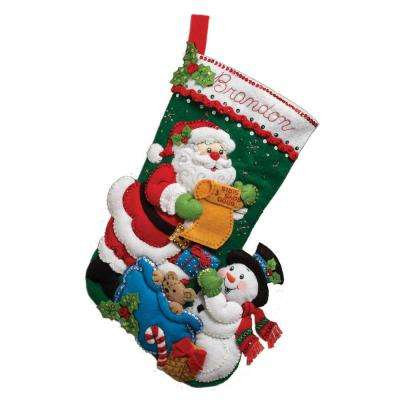 18 in. Felt Stocking Kit-Santa's List