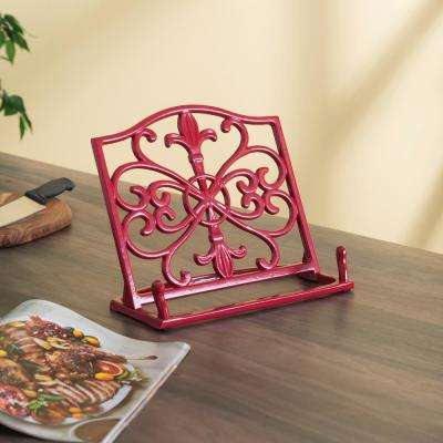 Cast Iron Fleur de Lis Cookbook Stand