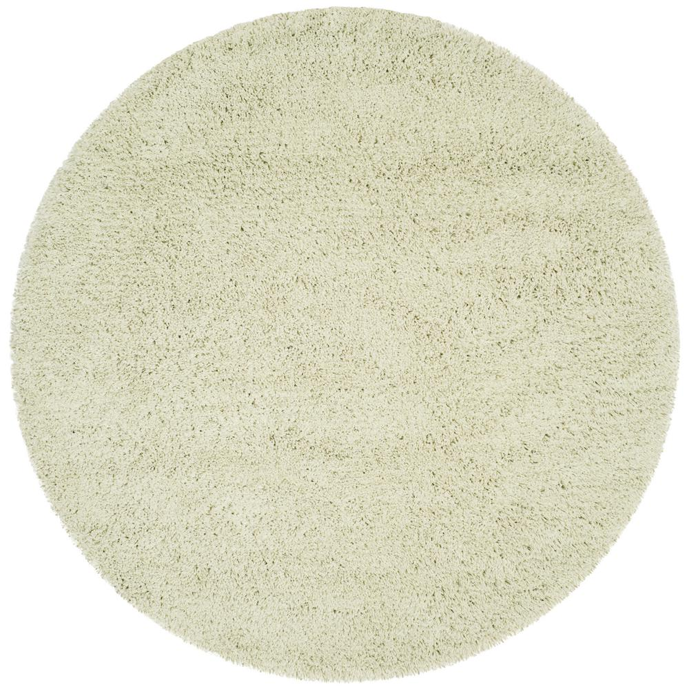 Safavieh Classic Shag Lime (Green) 4 ft. x 4 ft. Round Ar...