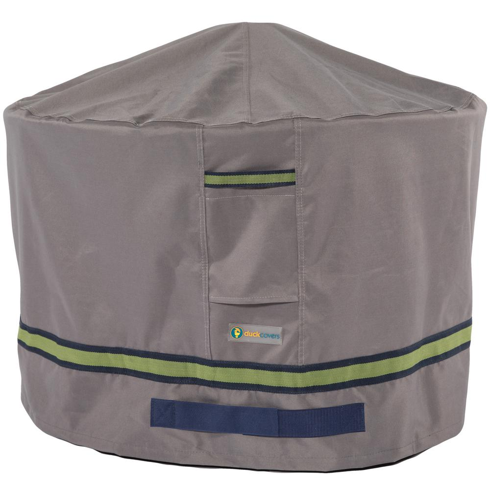Duck Covers Soteria 36 in. Grey Round Fire Pit Cover