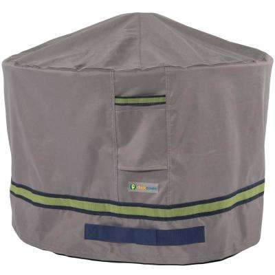 Soteria 36 in. Grey Round Fire Pit Cover