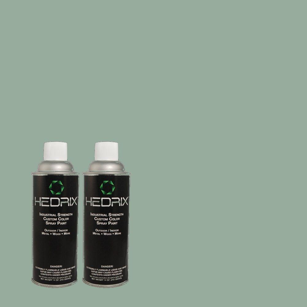 Hedrix 11 oz. Match of TH-66 Erte Aqua Flat Custom Spray Paint (2-Pack)