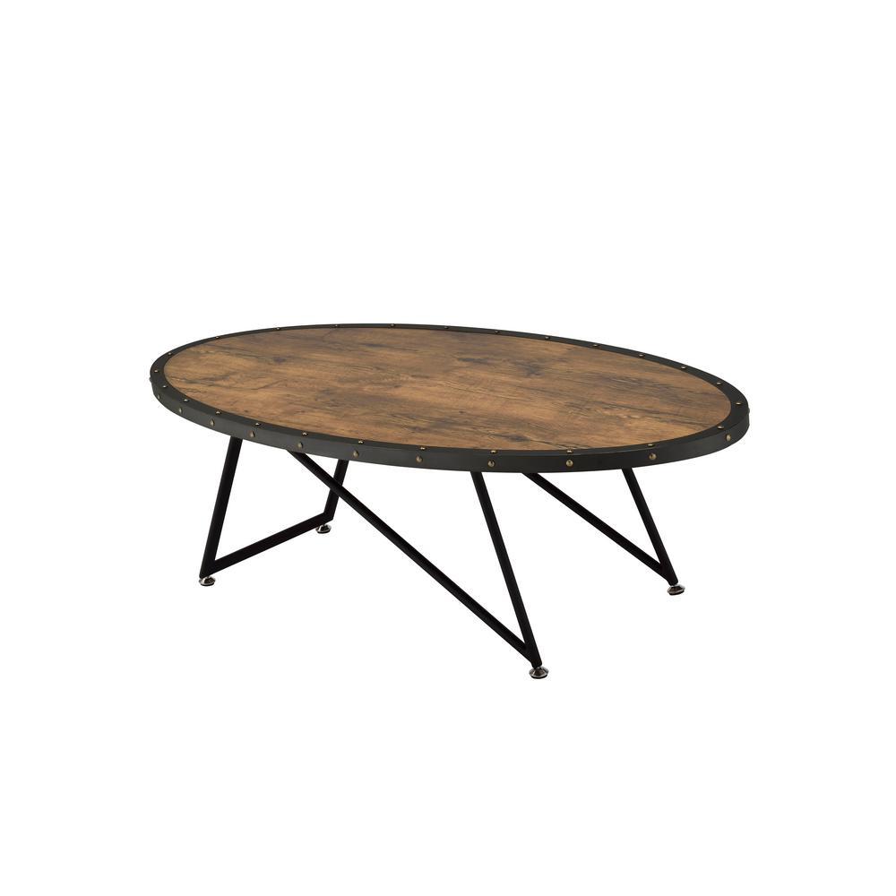 Acme Furniture Allis Weathered Dark Oak Water Resistant Coffee Table