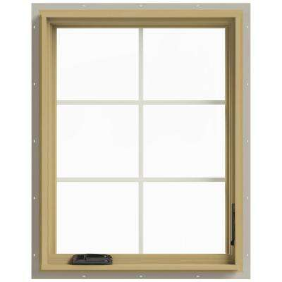 28 in. x 36 in. W-2500 Right Hand Casement Aluminum Clad Wood Window