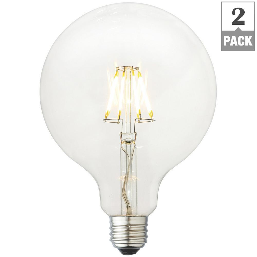 Newhouse Lighting 40w Equivalent Incandescent G25 Dimmable: GE 25-Watt Incandescent G25 Globe Double Life Clear Light