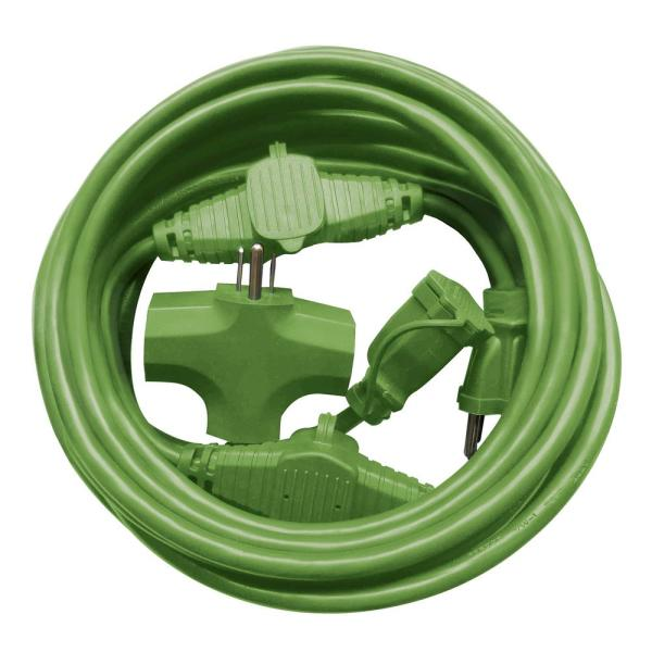 25 ft. 14-Gauge Indoor/Outdoor Multi-Outlet Extension Cord