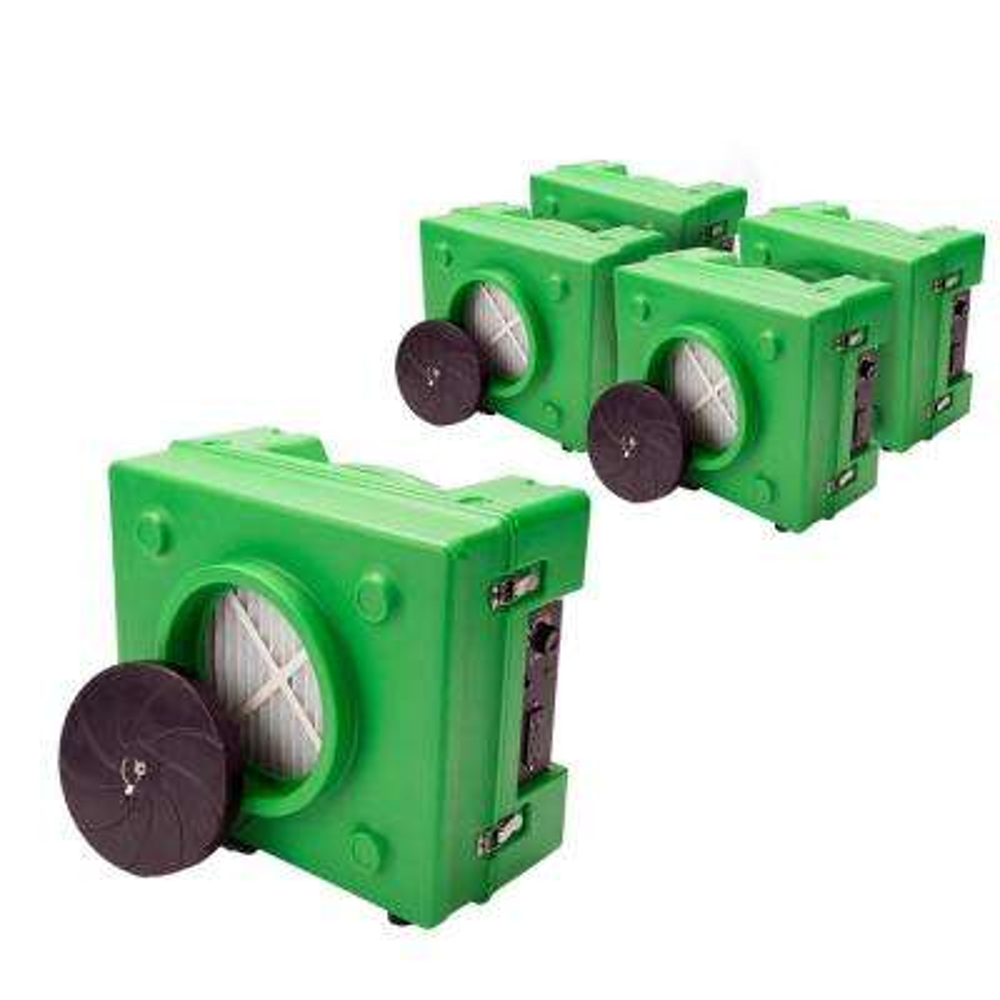 1/3 HP 2.5 Amp HEPA Air Purifier Scrubber for Water Damage Restoration Negative Air Machine in Green