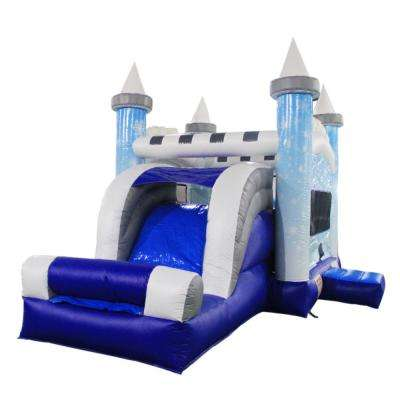 Snowflake Castle Bounce House with Blower