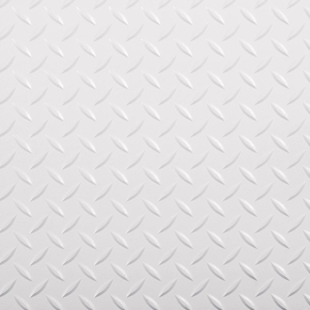 G-Floor RaceDay 12 in. x 12 in. Peel and Stick Diamond Tread Absolute White Polyvinyl Tile (40 sq. ft. / case)