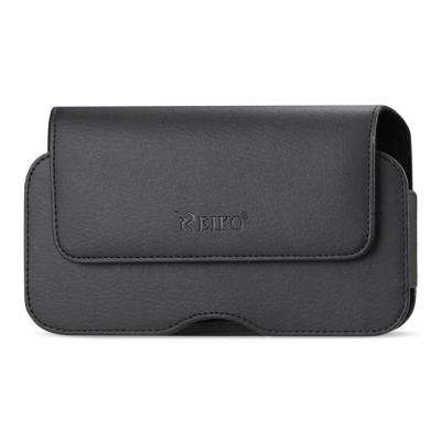 Medium Horizontal Leather Holster in Black