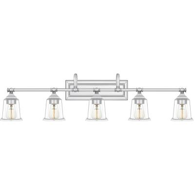 Nicholas 5-Light Polished Chrome Vanity Light