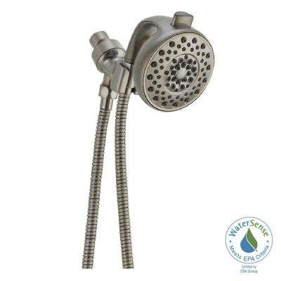 Palm 4-Spray Handheld Showerhead with Pause in Stainless