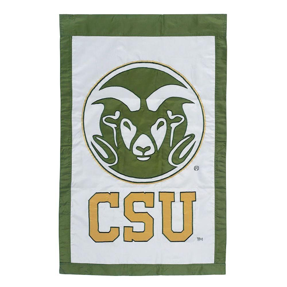 NCAA 28 in. x 44 in. Colorado State University Applique House