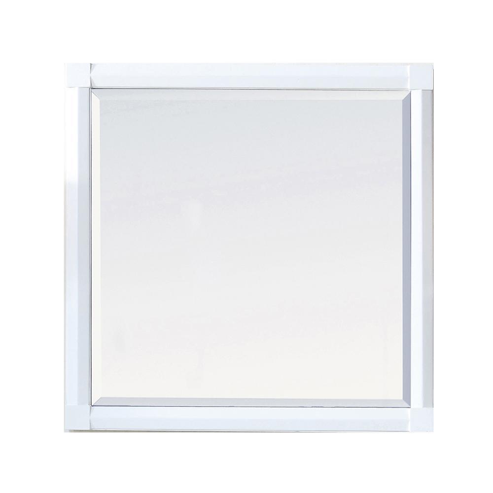 Martha Stewart Living Sutton 28 in. x 28 in. Framed Wall Mirror in Bright White