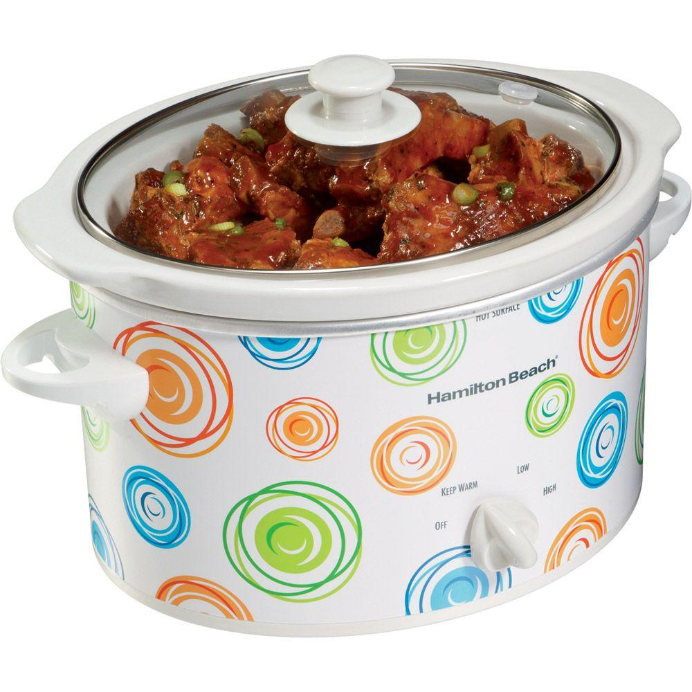 Hamilton Beach 3-qt. Slow Cooker with Swirl Pattern Design-DISCONTINUED