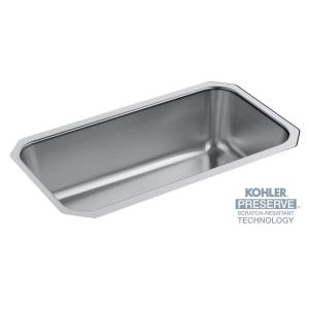 undertone preserve undermount stainless steel 31 in single basin kitchen sink kit - Kohler Kitchen Sinks