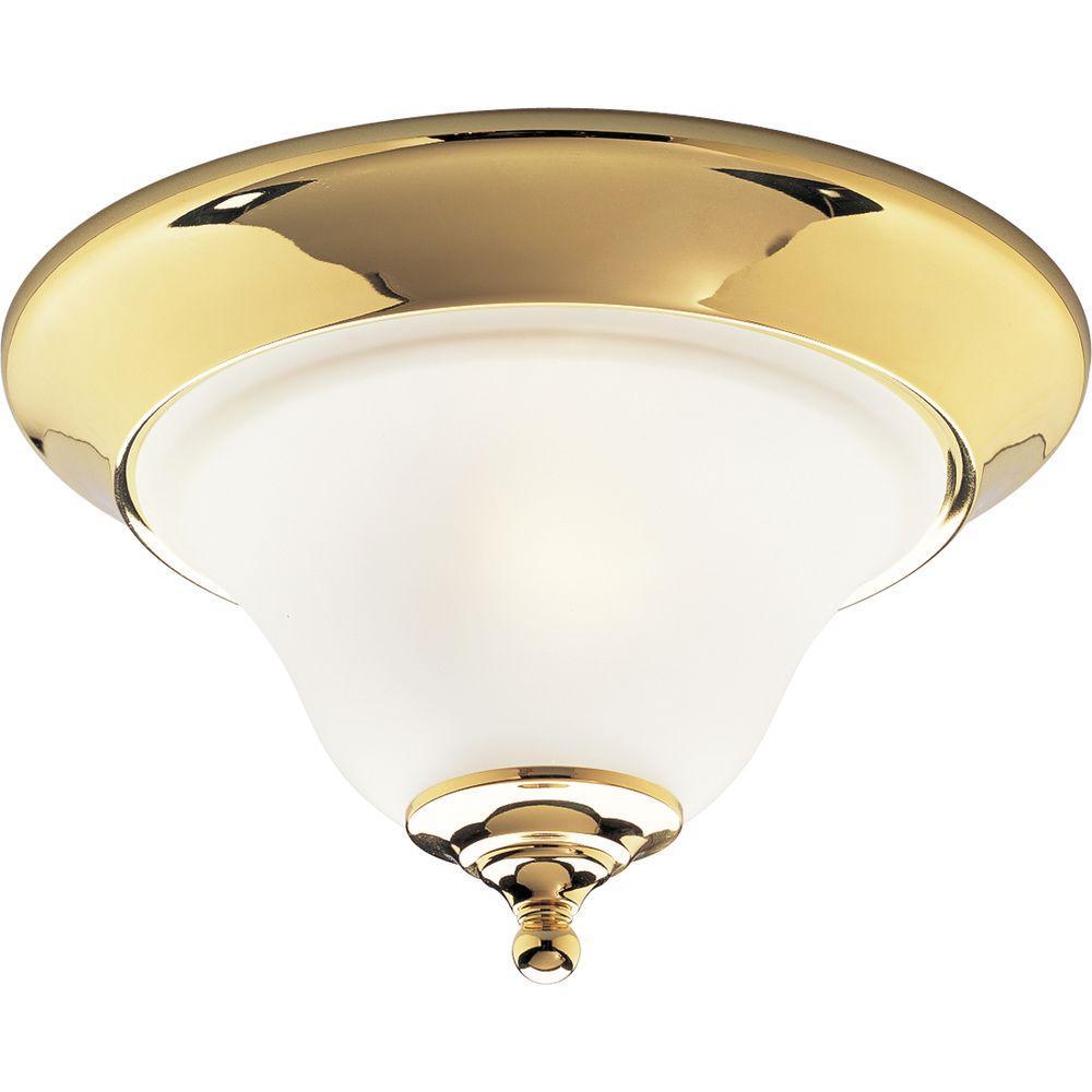 Progress Lighting Trinity Collection Polished Brass 1-light Flushmount-DISCONTINUED