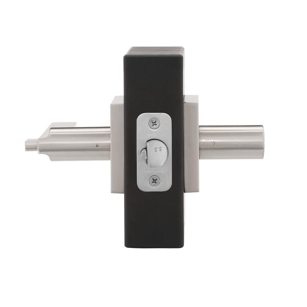 Iron Black Kwikset 91560-029 Halifax Slim Square Keyed Entry Lever w//Smartkey