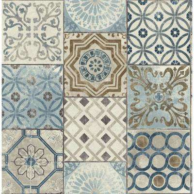 Moroccan Tile Vinyl Peelable Wallpaper (Covers 30.75 sq. ft.)