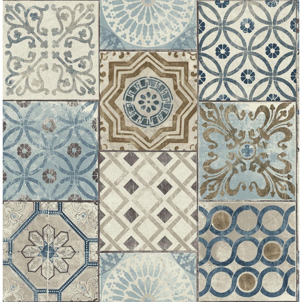 Moroccan Tile Vinyl Peelable Wallpaper (Covers 30.75 sq. ft.)