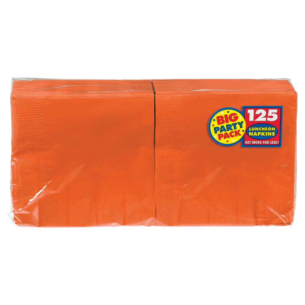 Big Party Pack 6.5 in. x 6.5 in. Orange Paper Birthday