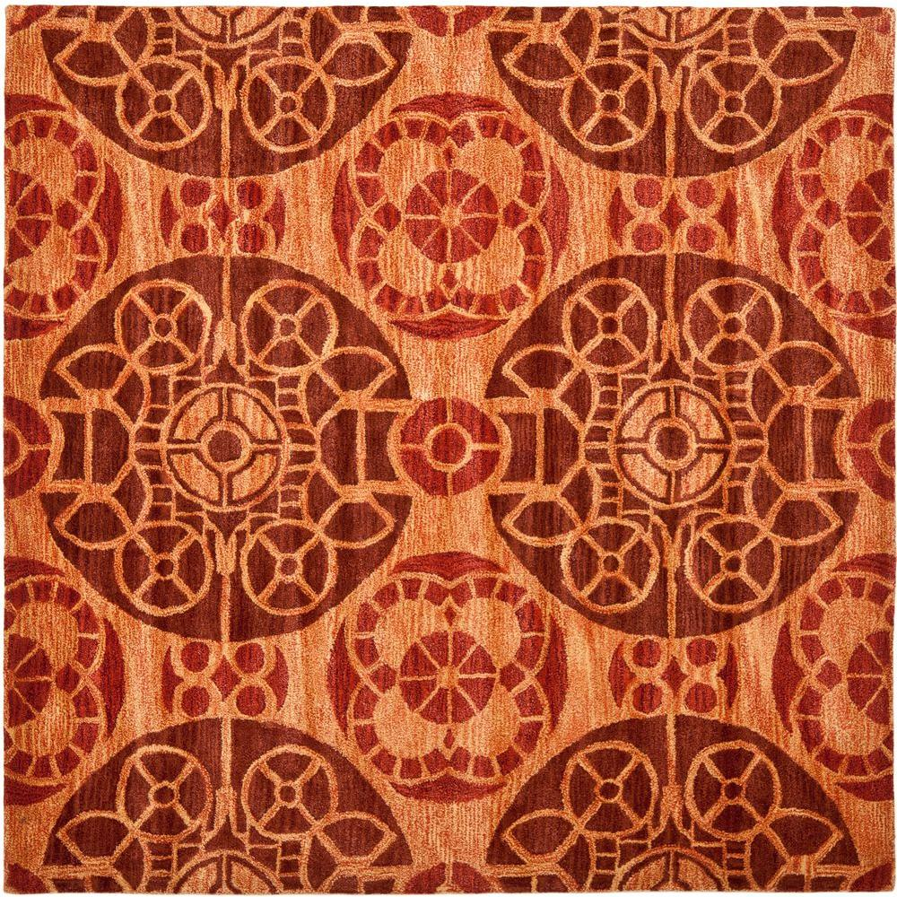 Safavieh Wyndham Cinnamon 7 ft. x 7 ft. Area Rug