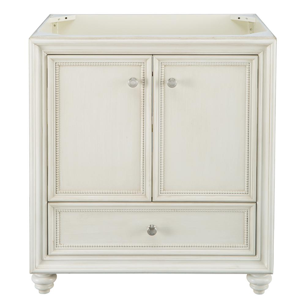 HomeDecoratorsCollection Home Decorators Collection Dellwood 30 in. W x 21.75 in. D Bath Vanity Cabinet Only in Antique White