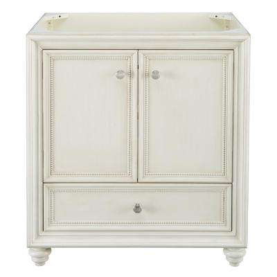 Dellwood 30 in. W x 21.75 in. D Bath Vanity Cabinet Only in Antique White