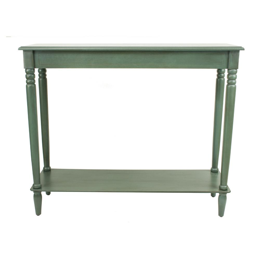 Simplify Antique Teal Large Console Table