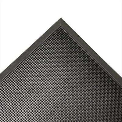 Door Scraper Black 32 in. x 39 in. Recycled Rubber Commercial Mat