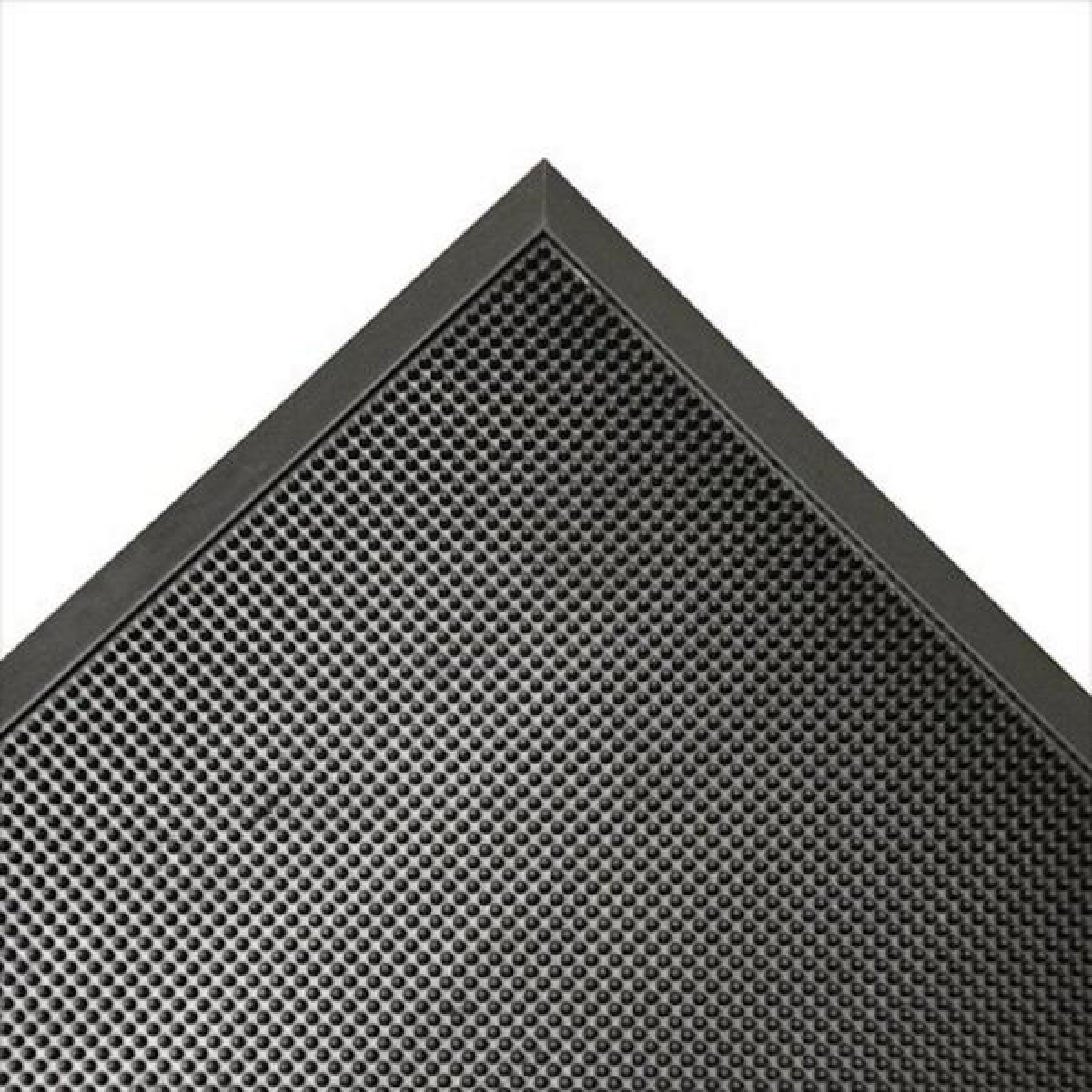 Door Scraper Black 32 in. x 39 in. Recycled Rubber Commercial Mat