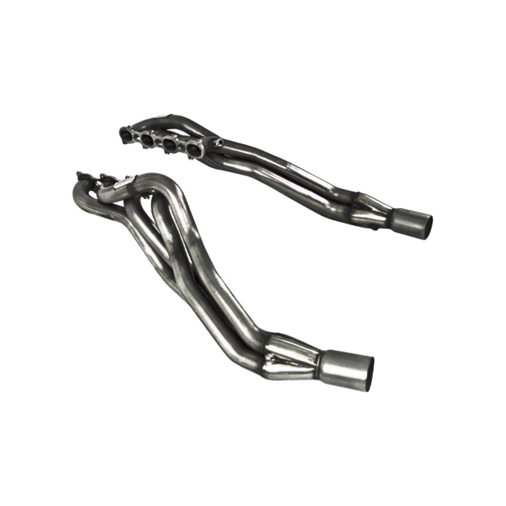 mbrp 11  ford mustang gt 5 0 t304 long tube headers 1 75in primaries 3in collectors