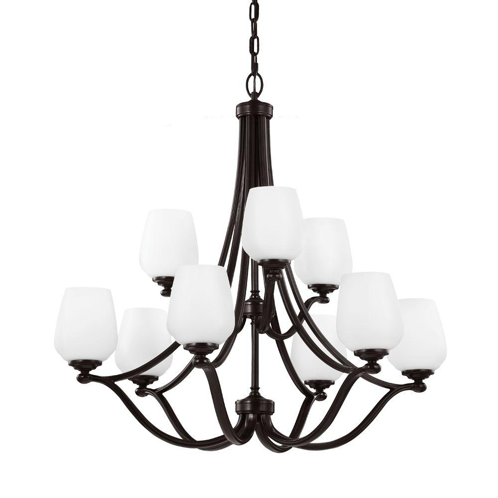 Vintner 9-Light Heritage Bronze Single Tier Chandelier