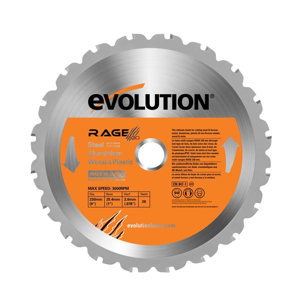 Evolution power tools rage 9 in multipurpose replacement blade multipurpose replacement blade greentooth Image collections