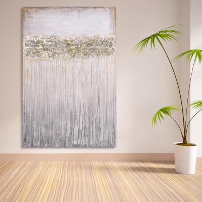 """Dust"" Textured Metallic Hand Painted Wby Martin Edwards Abstract Canvas Wall Art"