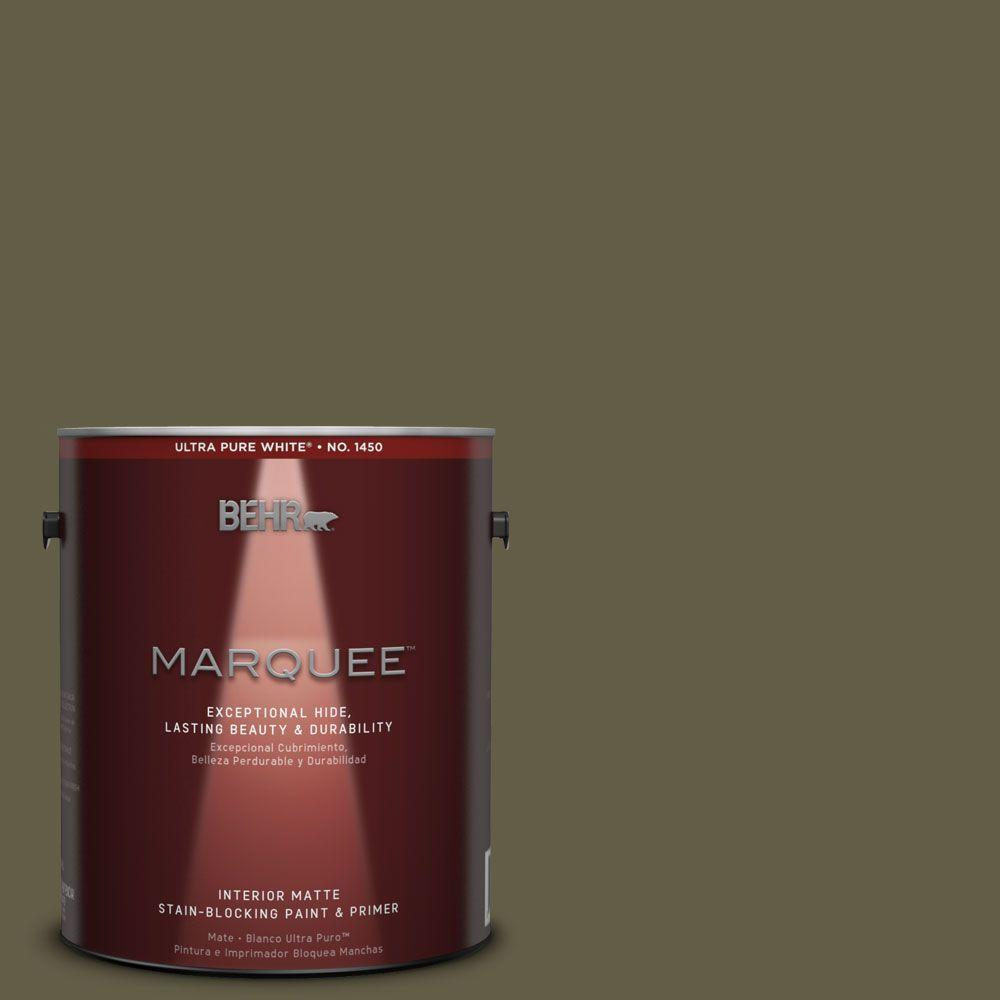 BEHR MARQUEE 1 gal. #MQ6-28 Crushed Oregano One-Coat Hide Matte Interior Paint