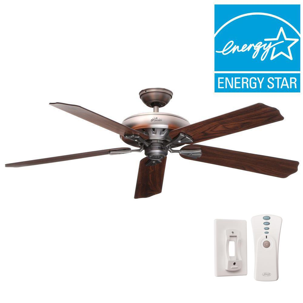 Hunter Royal Oak 60 in. Indoor Antique Pewter Ceiling Fan