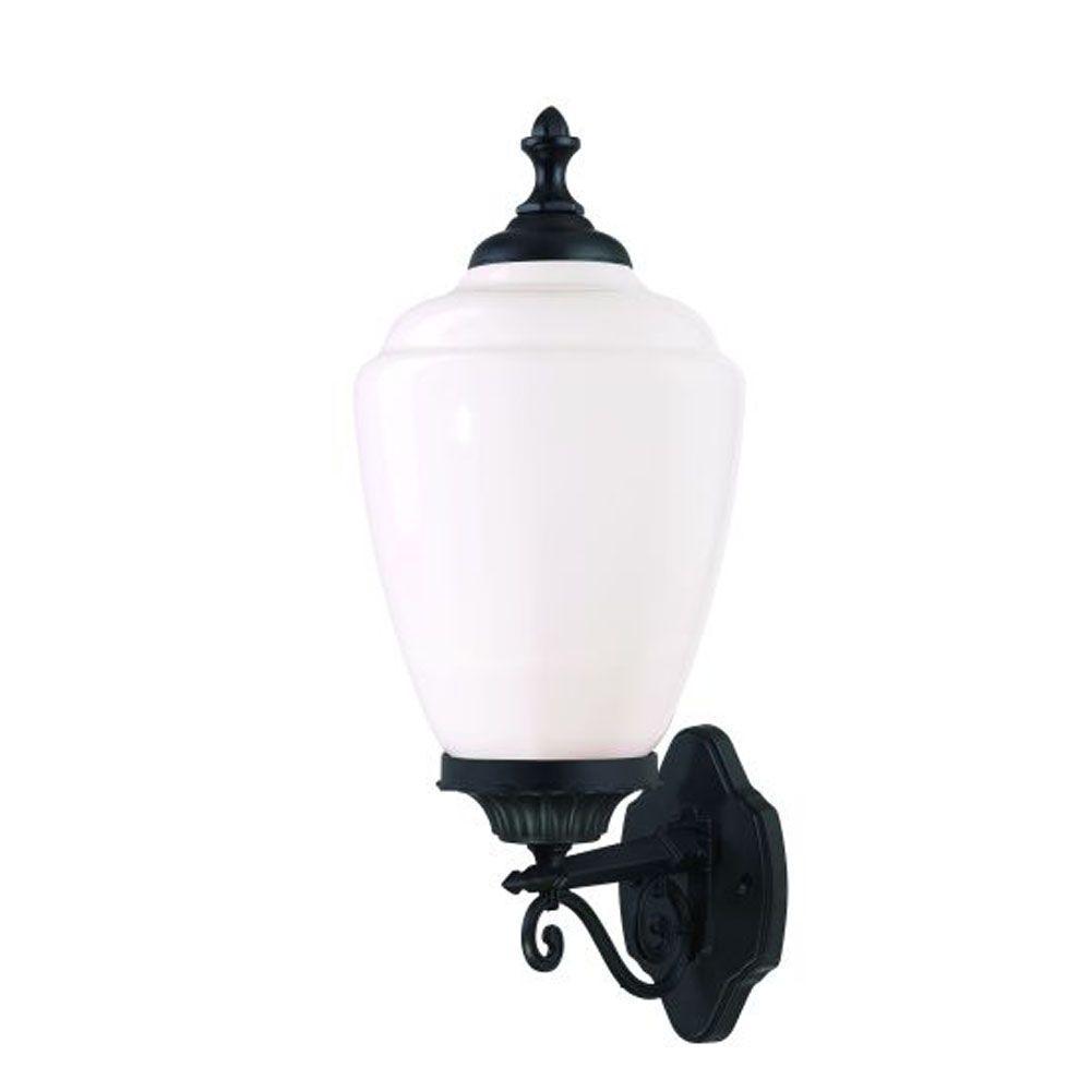 Acorn Collection 1-Light Matte Black Outdoor Wall-Mount Fixture