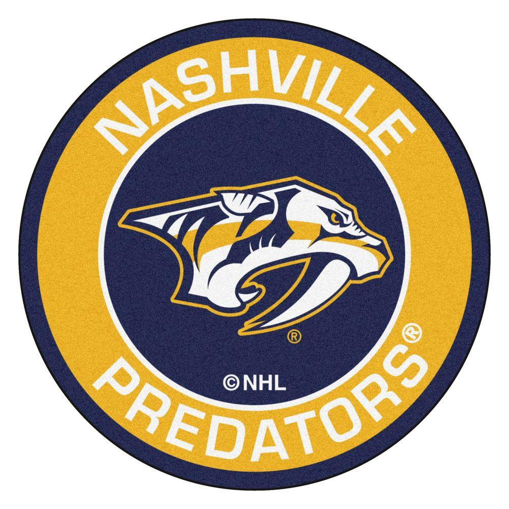 FANMATS NHL Nashville Predators Yellow 2 ft. x 2 ft. Round Area Rug