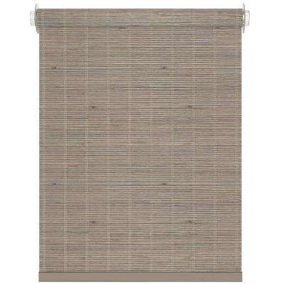 Bamboo Driftwood Cordless Roller Shade - 27 in. W x 72 in. L