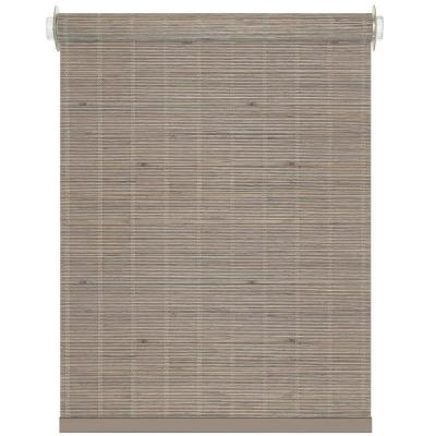 Bamboo Driftwood Cordless Light Filtering Woven Bamboo Roller Shade 29 in. W x 72 in. L
