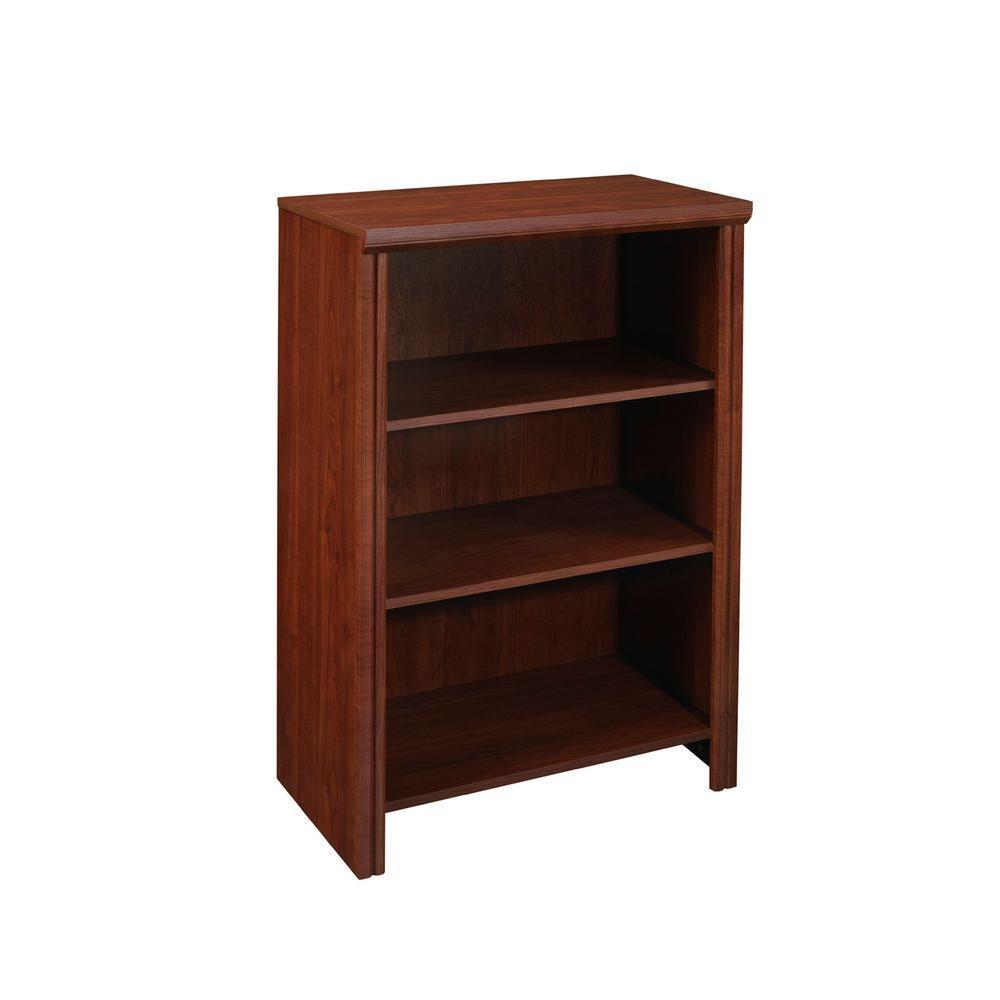 ClosetMaid Impressions 14.57 in. x 25 in. Dark Cherry Laminate 4-Shelf Organizer